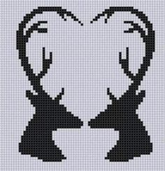 Name: 'Embroidery : Deer Heart Cross Stitch Pattern Cross Stitching, Cross Stitch Embroidery, Cross Stitch Patterns, Crochet Deer, Crochet Chart, Beading Patterns, Embroidery Patterns, Pixel Pattern, Cross Stitch Heart