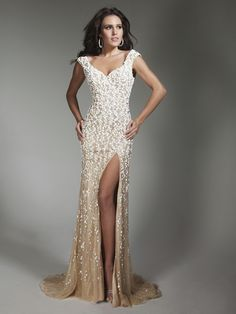 2014 fall wedding dresses FOR WOMEN OVER 40 | Cheapest 2014 V-neck Fall Beaded Sheath Bodice Tony Bowls Collection ...