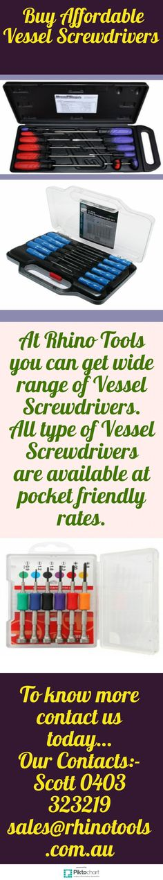 Here, you can Buy Affordable Vessel Screwdrivers online. Vessel JIS screwdrivers are for use with JIS (Japanese Industrial Standard) cross point screws, found on Japanese cars, motorcycles and machinery for more information please visit   https://rhinotools.com.au/brand/vessel-screwdrivers/