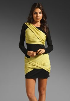 WISH Chaos Dress in Black/Lime at Revolve Clothing - Free Shipping!