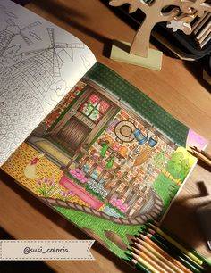 Eriy - Romantic Country coloring book the second tale mit Prismacolor Premier Pencils