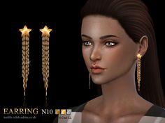 The Sims Resource: Earrings 10 by S-Club • Sims 4 Downloads
