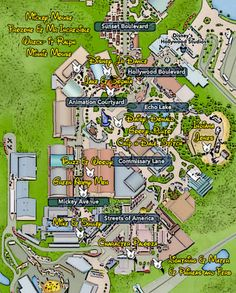 Walt Disney World, Hollywood Studios, Character Locations, Map