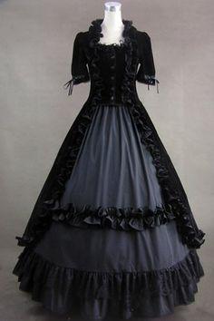 Renaissance Gothic Lolita Velvet Dress Ball Gown « StoreBreak.com – Away from the busy stores