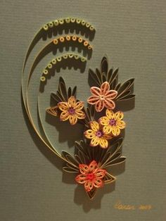 Quilled pattern copied from an embroidery design