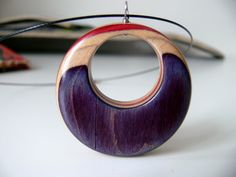 Recycled Skateboard Wood Pendant on a Black Wire by alldeckdout, $30.00