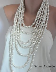2014 Fashion  Handmade Weddings  Pearl by HMbySemraAscioglu, $146.00