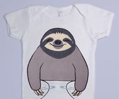 Sloth Baby Onesie - Cute Baby Clothes - Halloween Baby Costume Bodysuit on Etsy, $18.00