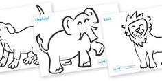 Dear Zoo Colouring Sheets