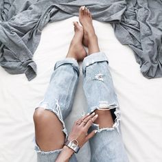 We like our denim distressed. #MyShopStyle