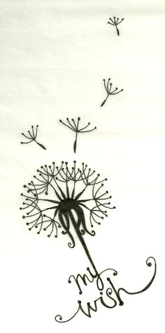 My Wish Dandelion Tattoo Design : Dandelion Tattoos 1 Tattoo, Piercing Tattoo, Get A Tattoo, Back Tattoo, Tattoo Neck, Tattoo Thigh, Wrist Tattoo, Ankle Tattoo, Tattoo Fonts