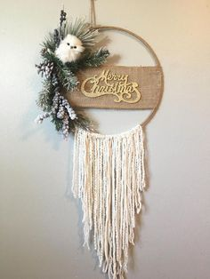 Christmas Wall Hanging Christmas Dreamcatcher Bohemian Christmas Merry Christmas Sign Christmas Decor Christmas Wall Hanging Bohemian Decor Style Home Decor Style Decor Tips Maintenance Christmas Makes, All Things Christmas, Merry Christmas Signs, Christmas Wall Hangings, Christmas Wreaths, Diy Xmas, Bohemian Christmas, Deco Table Noel, Xmas Decorations