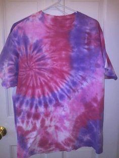 Tie Dye Tshirt Size XL  Swirl pink purple and by SaintInterlude, $8.00