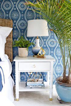 Tropical Master Bedroom, Blue Master Bedroom, Coastal Master Bedroom, Tropical Bedrooms, Master Bedroom Makeover, Bedroom Decor, Bedroom Ideas, Bedroom Furniture, Nautical Bedroom