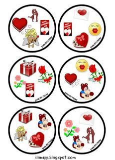English Freak: VALENTINE'S DAY DOBBLE PART 3 (printable) Speaking Games, Bingo Games, Matching Games, Board Games, Valentines Day, Printables, Room Mom, English, Holiday Decor
