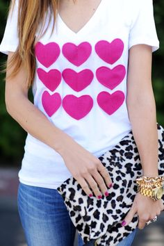 Merrick's Art // Style + Sewing for the Everyday Girl: DIY HEART ATTACK VALENTINE'S DAY SHIRT