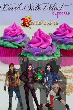 Disney's Descendants Dark Side Velvet Cupcakes Recipe 9th Birthday Parties, 10th Birthday, Birthday Fun, Birthday Ideas, Birthday Cakes, Birthday Goals, Birthday Backdrop, The Descendants, Shopkins
