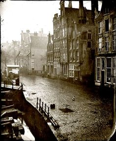 De Oudeschans (Amsterdam) captured in February 1863. Photograph by Jacob Olie, . #greetingsfromnl