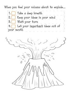 MY MOUTH IS A VOLCANO- PRACTICING SELF- CONTROL IN THE CLASSROOM - TeachersPayTeachers.com