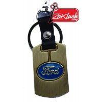 Ключодържател за Форд - метален със златист цвят  За собствениците на Форд Ескорт, B-max, C-max,Capri, Connect, Consul, Cortina, Cougar, Ecoline, F1