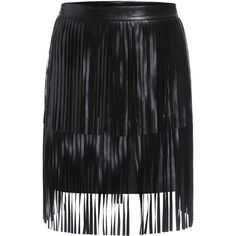 SheIn(sheinside) Black Tassel Bodycon PU Skirt ($20) ❤ liked on Polyvore featuring skirts, sheinside, black, short skirts, short summer skirts, body con skirt, black stretchy skirt and short black skirt
