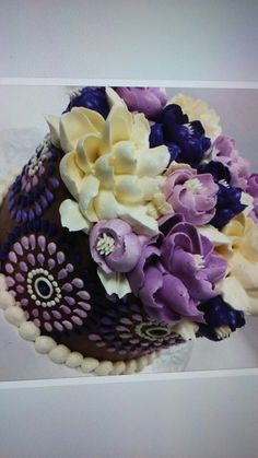 Cake Icing, Buttercream Frosting, Sweets Cake, Cupcake Cakes, Decorating Cakes, Decorating Ideas, Hippie Cake, Cakes Plus, Cupcake Decorations