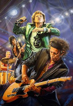 The Rolling Stones - Mick Jagger (vocals), Keith Richards (guitar), Ronnie Wood (guitar), Charlie Watts (drums)
