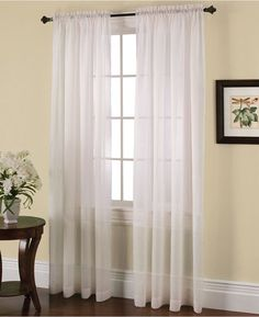 "Miller Curtains Solunar Crushed Voile 54"" x 84"" Insulating Sheer Curtain Panel Bedding"