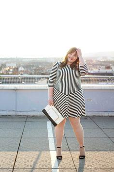 kathastrophal.de | Plus Size Outfit - The Striped Dress by Gudrun Sjödén #plussize #psbloggers