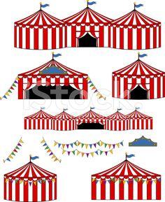 Big Top Circus/Carnival Tents royalty-free stock vector art