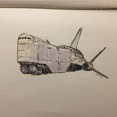 72 vind-ik-leuks, 1 reacties - Alberto Boscolo Gnolo (@albgnolo) op Instagram: 'Merchant spaceship #spaceship #merchantship #drawing #ink #sketch #sketching #moleskine #sketchbook'