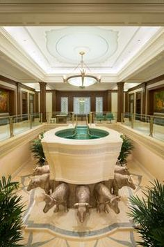 Gilbert Arizona Temple Opens for Visitors - Baptistry
