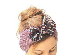 Your place to buy and sell all things handmade Yoga Headband, Wide Headband, Turban Headbands, Knot Headband, Turbans, Bandana Top, Striped Jersey, Hair Accessories For Women, Top Knot