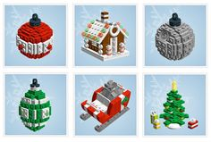 Lego Ornaments - instuctions to make this. Kylie you should do this for Leighton!!!!!!!