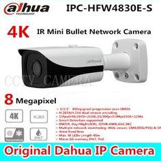 215.00$  Watch here - http://aliau4.shopchina.info/go.php?t=32751192435 - Free shipping New Dahua 4K IPC-HFW4800E upgraded to IPC-HFW4830E-S Ultra HD Network Small IR Bullet IP Camera English Firmware  #bestbuy