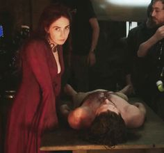 Pin for Later: 22 Behind-the-Scenes Moments on Game of Thrones That Will Change How You See Everyone Remember How Tense This Scene Was? Not So Tense Here