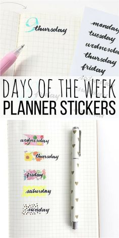 Love these planner stickers for my bullet journal weekly spreads. I like how there is lots of potential to customize them with washi tape and other stickers too like in the picture.