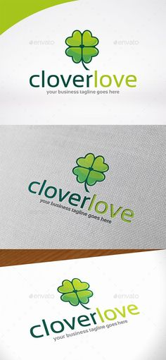 Clover Love Logo   PSD Template • Download ↓ https://graphicriver.net/item/clover-love-logo-template/16958160?ref=pxcr