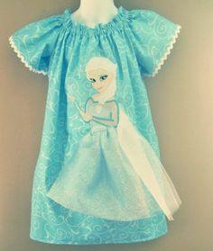 Frozen princess Elsa Disney dress girl peasant dress birthday Disney World