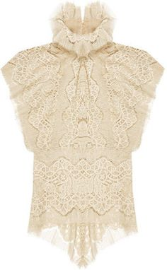 ShopStyle: Nathan Jenden History Lace Sleeveless Shirt