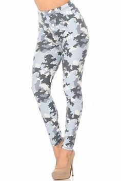 Are you looking for a pair of leggings that is perfect for staying in or running errands? Check out our Buttery Soft Light Blue Camouflage Leggings!   .  .  .  #leggings #onlyleggings #activewear #colorful #fashion #style #instastyle #comfyclothes #boutique #leggingslove #leggingsaddict #leggingsfordays #leggingssport Bandana Design, Plaid Design, Camouflage Leggings, Light Blue Leggings, Glen Plaid, Plus Size Leggings, Seamless Leggings, Cotton Leggings, Soft Light