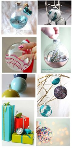 Make Your Holidays: 8 DIY glass ornaments | The DIY Adventures- upcycling, recycling and do it yourself from around the world.