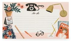 Paper Crown/Rifle Paper Co. Desk Top Notepad