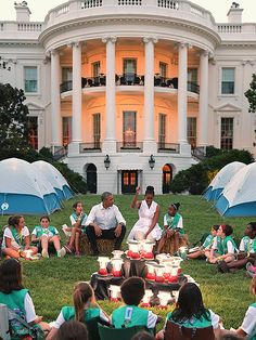 Star Tracks: Wednesday, July 1, 2015 | WHO RUN THE WORLD? | Girls! As part of the First Lady's Let's Move Outside initiative, Michelle Obama and President Barack Obama invite Girl Scouts from around the country for a Tuesday night campout on the South Lawn of the White House.