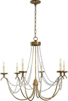 MARIGOT SIX-LIGHT CHANDELIER WITH SEEDED GLASS BEADS