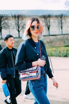 Irene Kim at Issey Miyake FW 2016 - 2017 Paris Snapped by Benjamin Kwan Paris Fashion Week