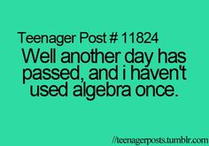 Except in those stupid math books