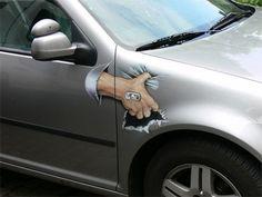 berlin illusion art car