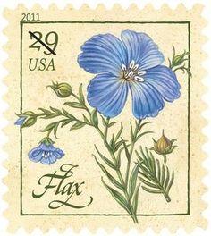10 Blue Herb Flower Stamps // RARE Unused Blue Floral Postage // Blue Botanical Flower Postage Stamps for Mailing Flax Flowers, Botanical Flowers, Wedding Postage, Flower Stamp, Vintage Stamps, Postage Rates, Mail Art, Stamp Collecting, My Stamp