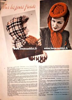 GRATUIT 58 Patrons tricot, crochet / Vintage / FREE Knitting Patterns